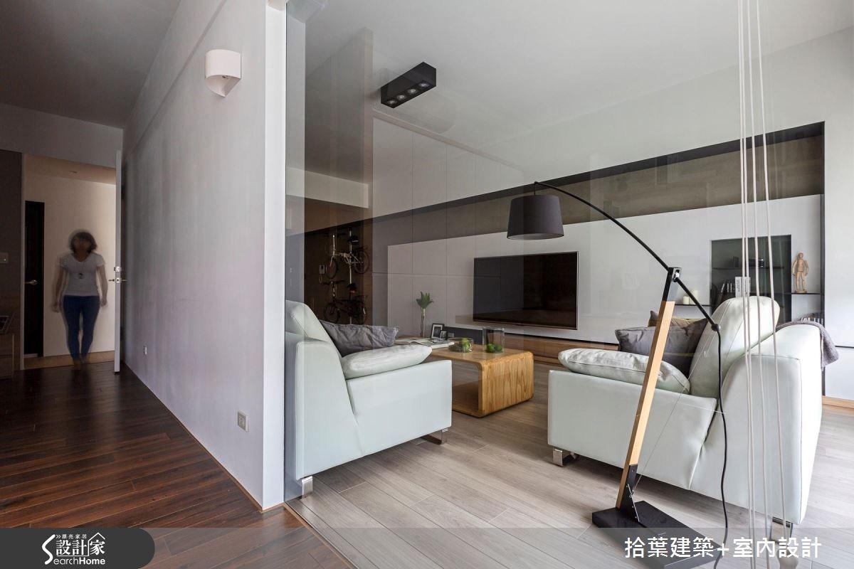 35坪新成屋(5年以下)_現代風客廳走廊案例圖片_拾葉建築+室內設計_拾葉_17之9