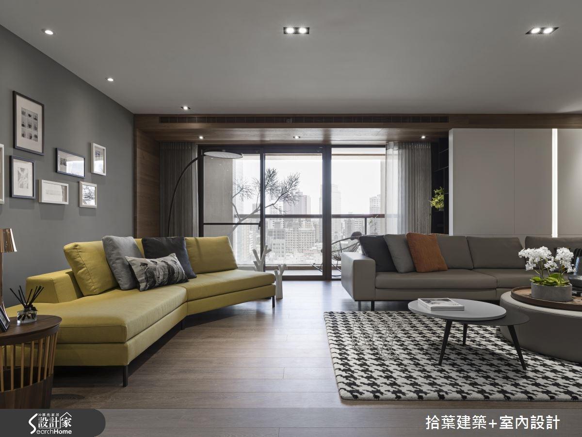 60坪新成屋(5年以下)_現代風客廳案例圖片_拾葉建築+室內設計_拾葉_20之4