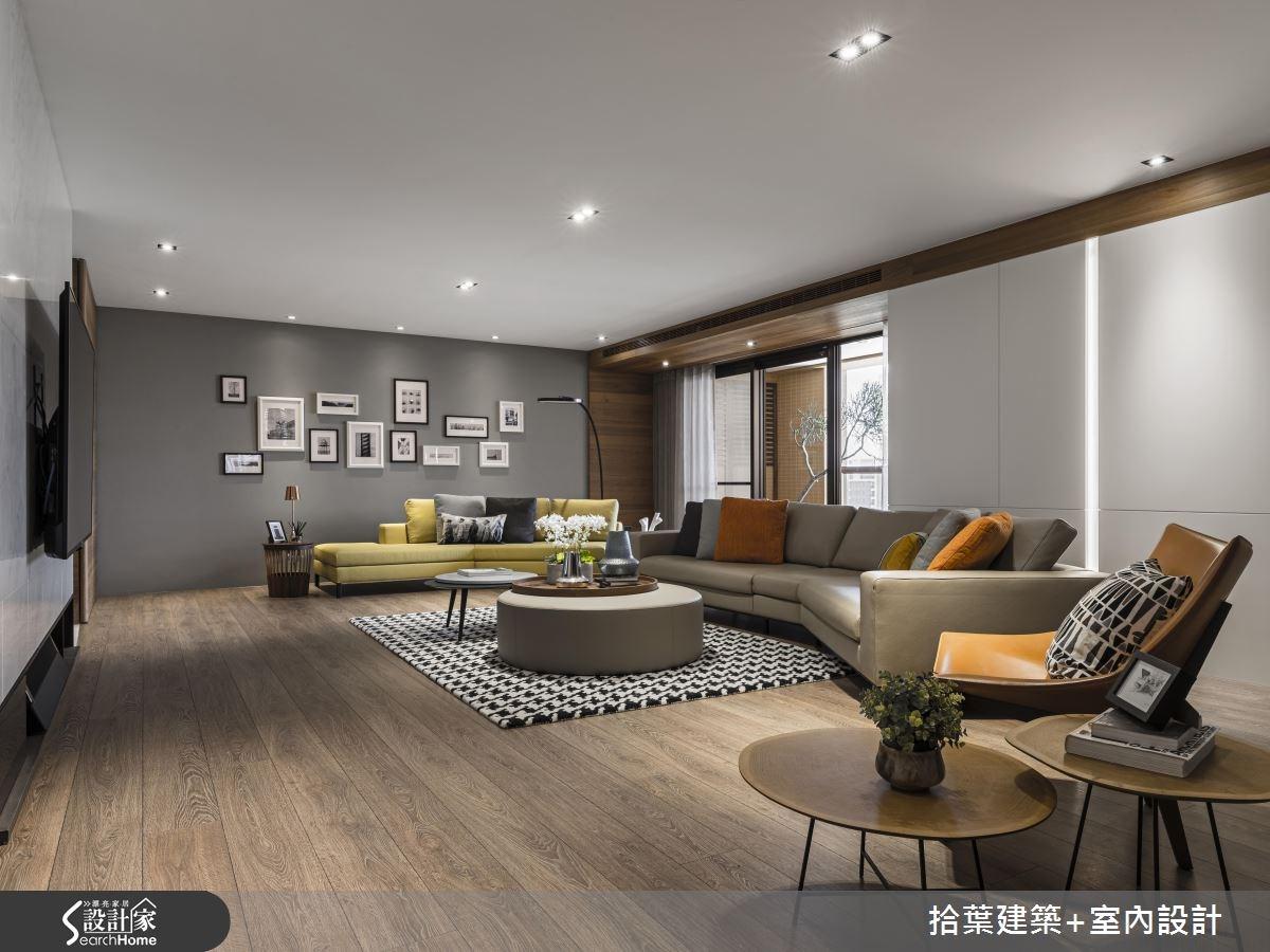 60坪新成屋(5年以下)_現代風客廳案例圖片_拾葉建築+室內設計_拾葉_20之5