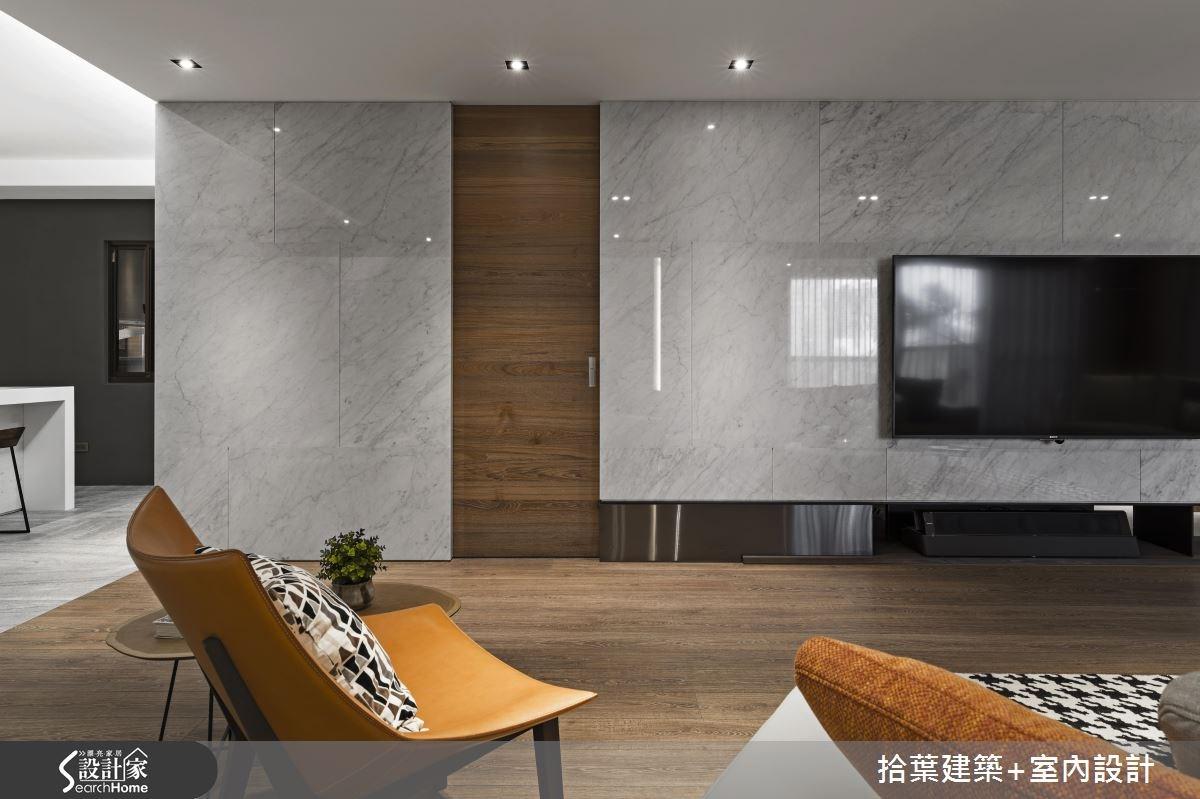 60坪新成屋(5年以下)_現代風客廳案例圖片_拾葉建築+室內設計_拾葉_20之7