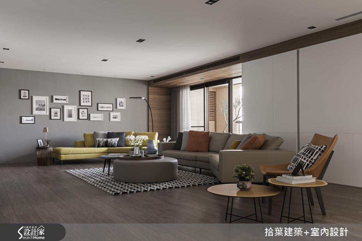 60坪新成屋(5年以下)_現代風客廳案例圖片_拾葉建築+室內設計_拾葉_20之6