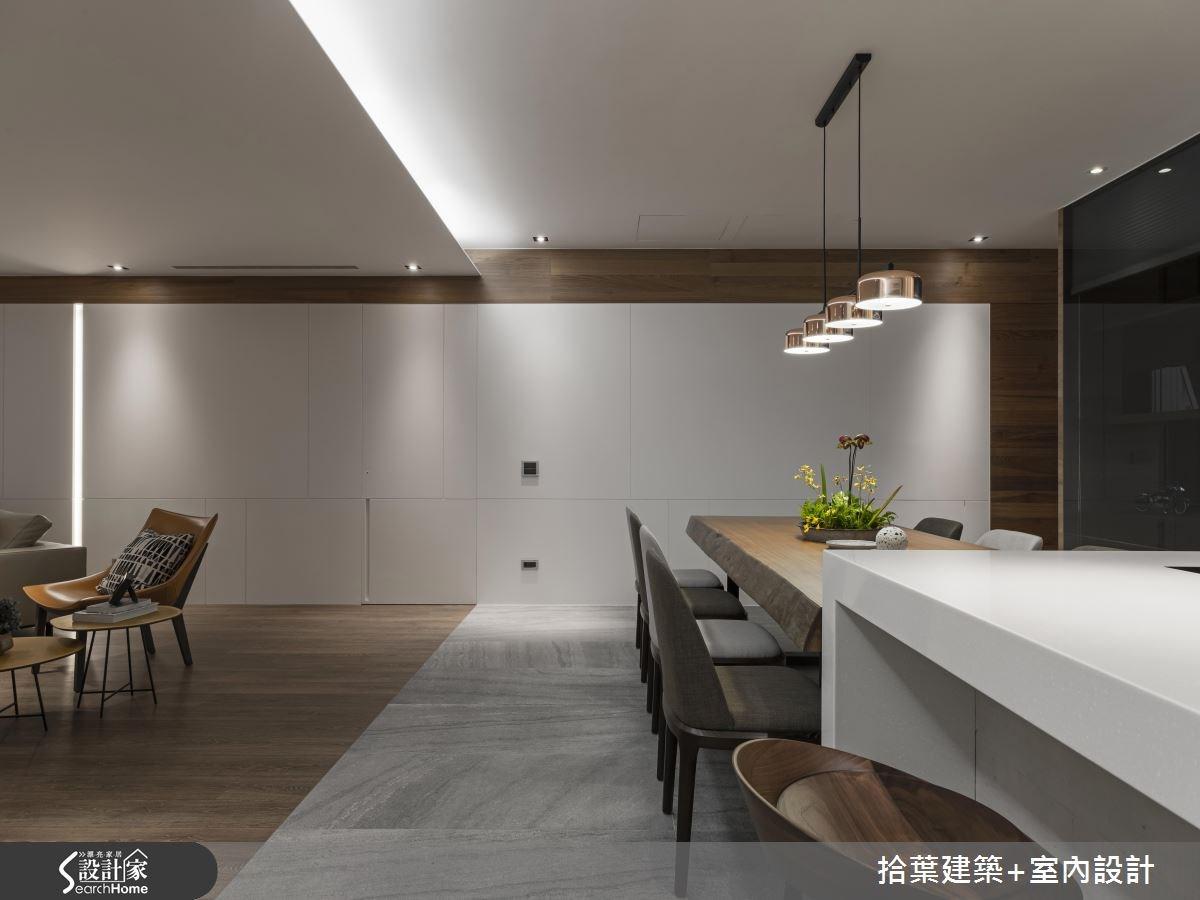 60坪新成屋(5年以下)_現代風餐廳吧檯案例圖片_拾葉建築+室內設計_拾葉_20之8