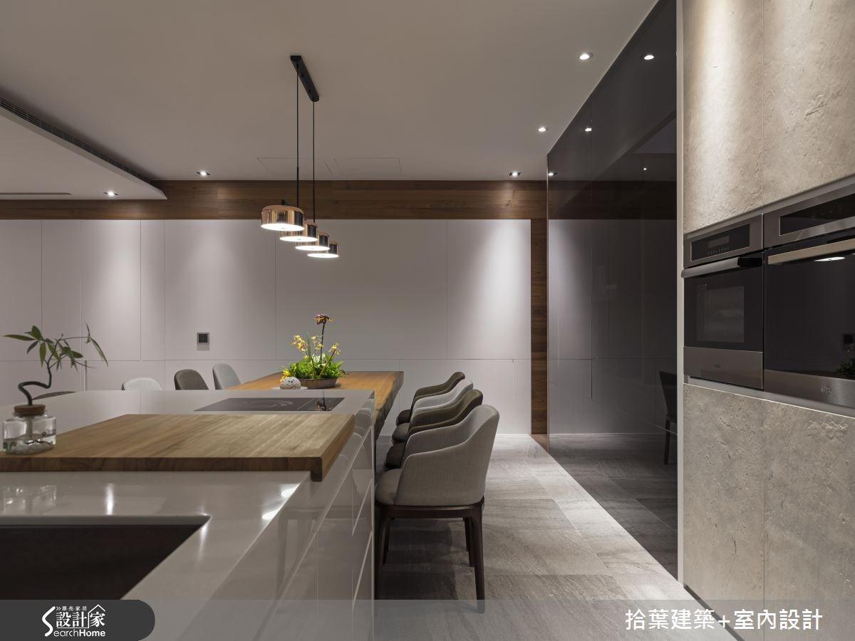 60坪新成屋(5年以下)_現代風吧檯案例圖片_拾葉建築+室內設計_拾葉_20之9