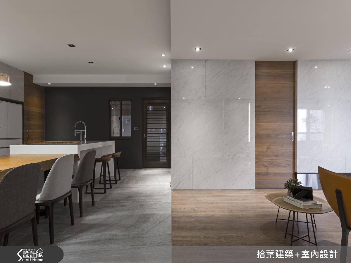 60坪新成屋(5年以下)_現代風餐廳吧檯案例圖片_拾葉建築+室內設計_拾葉_20之11