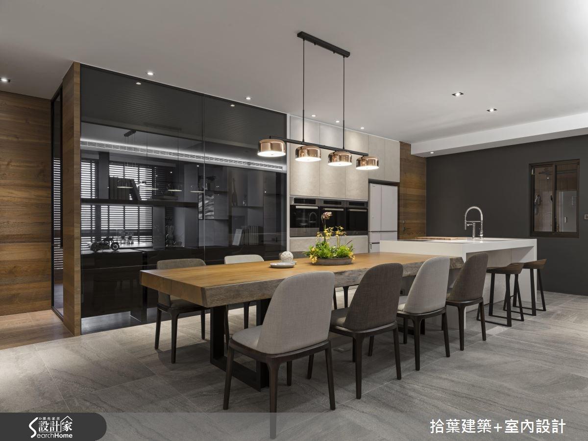 60坪新成屋(5年以下)_現代風餐廳廚房吧檯案例圖片_拾葉建築+室內設計_拾葉_20之12