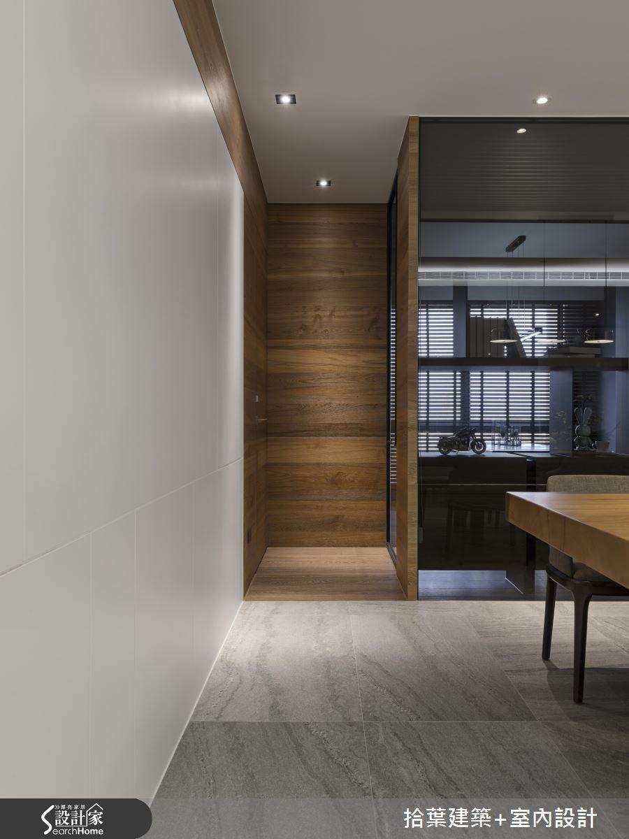 60坪新成屋(5年以下)_現代風走廊案例圖片_拾葉建築+室內設計_拾葉_20之13