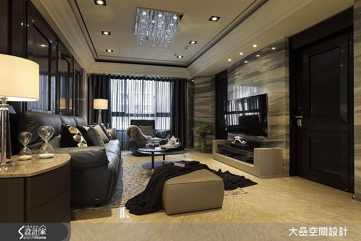 31坪中古屋(5~15年)_奢華風客廳案例圖片_大嵒空間設計_大嵒_01之5