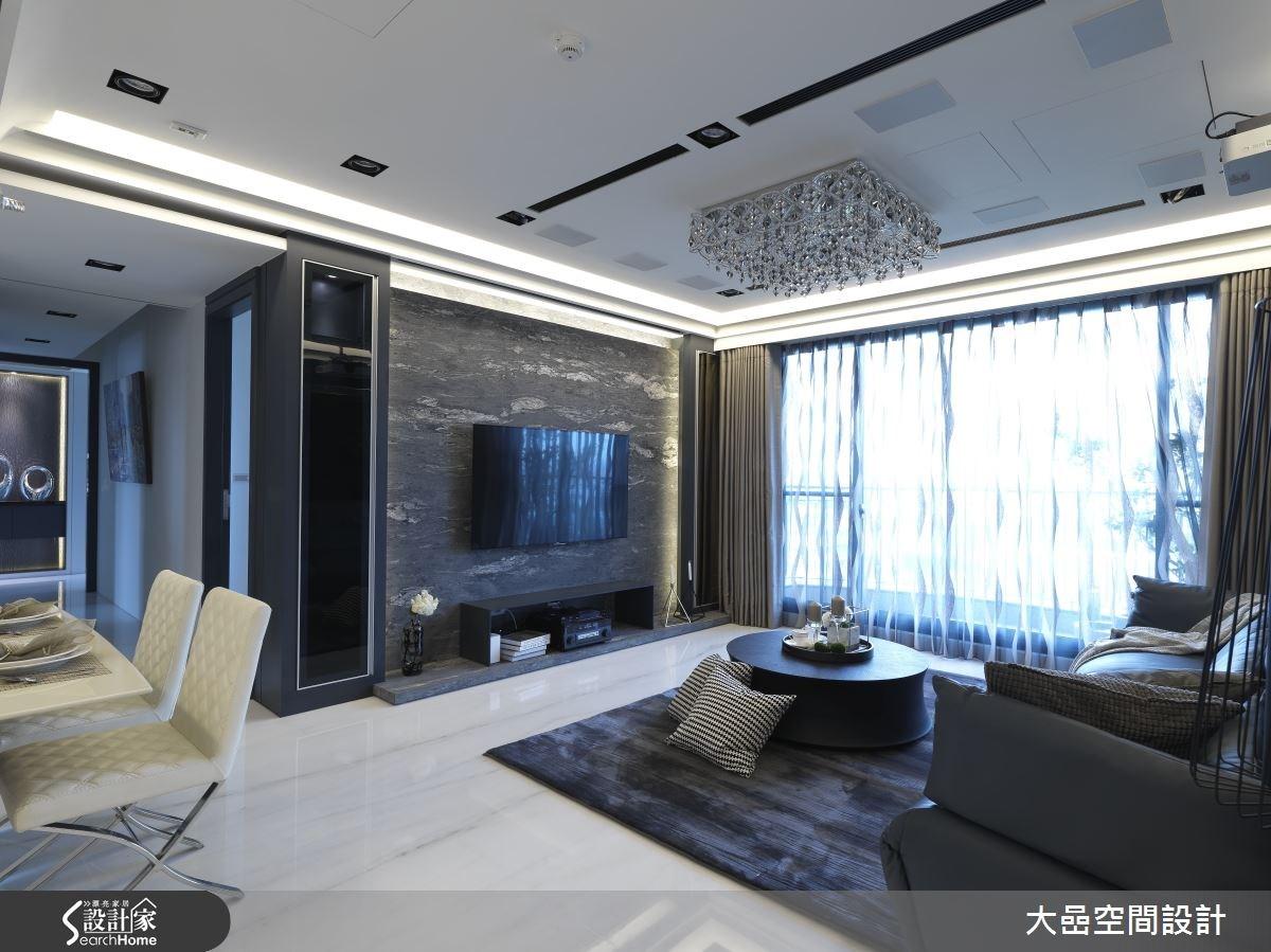 36坪中古屋(5~15年)_奢華風客廳案例圖片_大嵒空間設計_大嵒_02之3