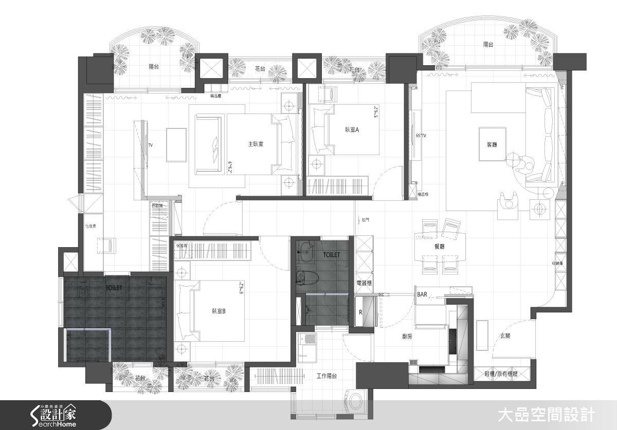 36坪中古屋(5~15年)_奢華風案例圖片_大嵒空間設計_大嵒_02之19