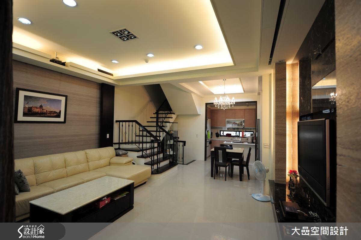 55坪新成屋(5年以下)_奢華風客廳餐廳廚房樓梯案例圖片_大嵒空間設計_大嵒_03之3