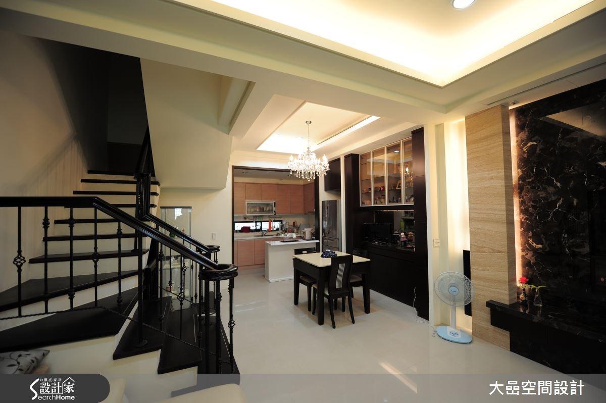 55坪新成屋(5年以下)_奢華風餐廳廚房樓梯案例圖片_大嵒空間設計_大嵒_03之4