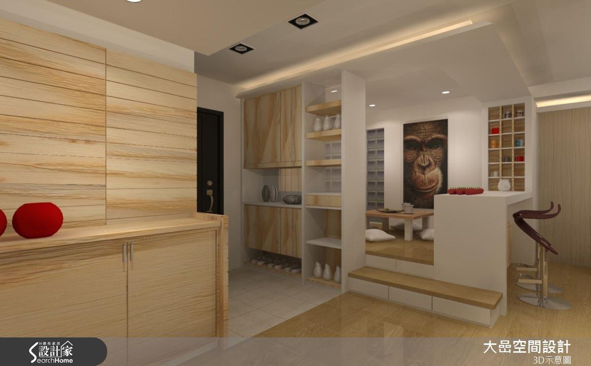 30坪新成屋(5年以下)_北歐風玄關吧檯和室案例圖片_大嵒空間設計_大嵒_04之1