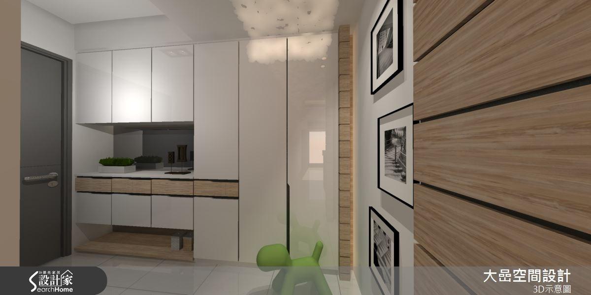 24坪新成屋(5年以下)_休閒風玄關案例圖片_大嵒空間設計_大嵒_06之2