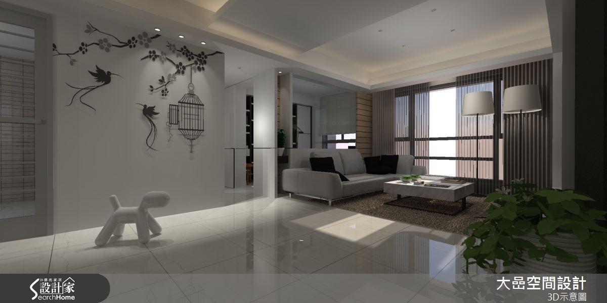 24坪新成屋(5年以下)_休閒風客廳案例圖片_大嵒空間設計_大嵒_06之3