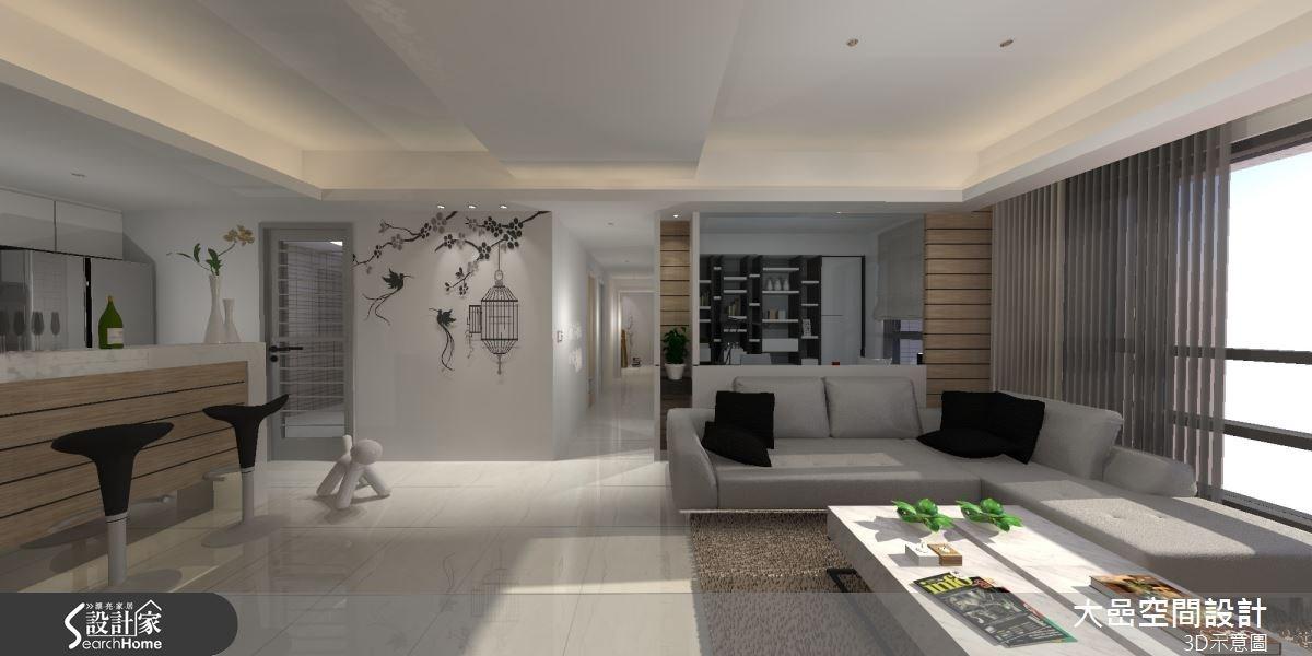 24坪新成屋(5年以下)_休閒風客廳吧檯案例圖片_大嵒空間設計_大嵒_06之4
