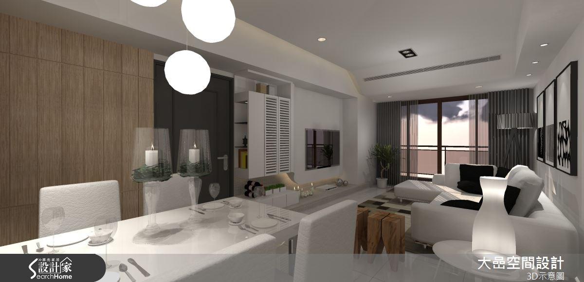 20坪新成屋(5年以下)_休閒風客廳餐廳案例圖片_大嵒空間設計_大嵒_07之3