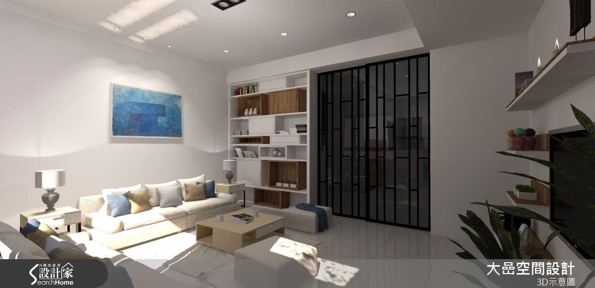 21坪新成屋(5年以下)_現代風客廳案例圖片_大嵒空間設計_大嵒_08之2