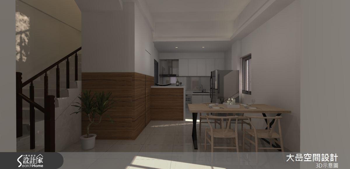 21坪新成屋(5年以下)_現代風餐廳廚房案例圖片_大嵒空間設計_大嵒_08之3