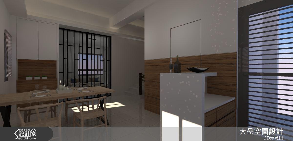 21坪新成屋(5年以下)_現代風餐廳案例圖片_大嵒空間設計_大嵒_08之4