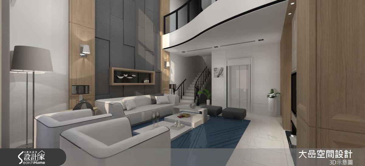 129坪預售屋_新古典客廳樓梯案例圖片_大嵒空間設計_大嵒_13之3
