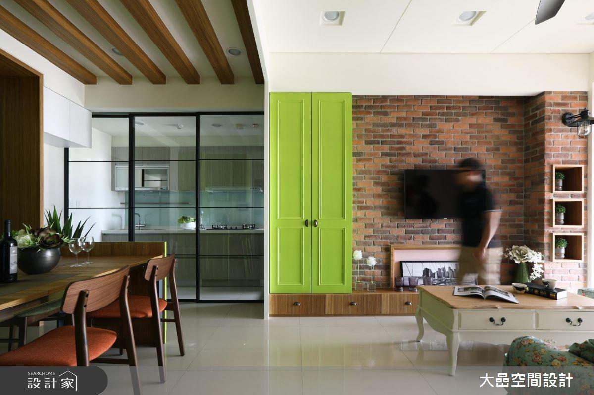 跳色綠X收納X隱藏伸縮桌 打造風格與機能100%!