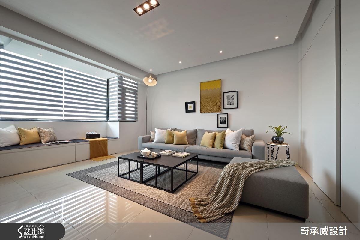 60坪新成屋(5年以下)_現代風客廳案例圖片_楊允幀空間設計_楊允幀_11之2