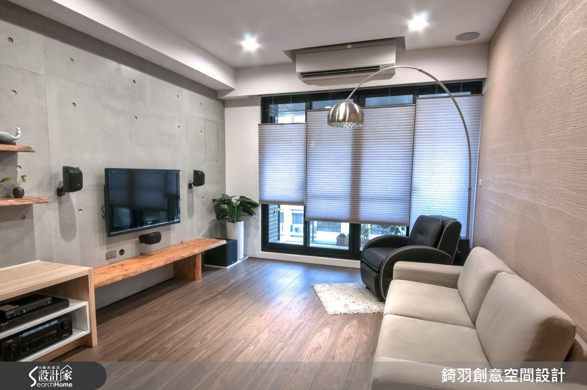 25坪新成屋(5年以下)_簡約風客廳案例圖片_錡羽創意空間設計_錡羽_01之1