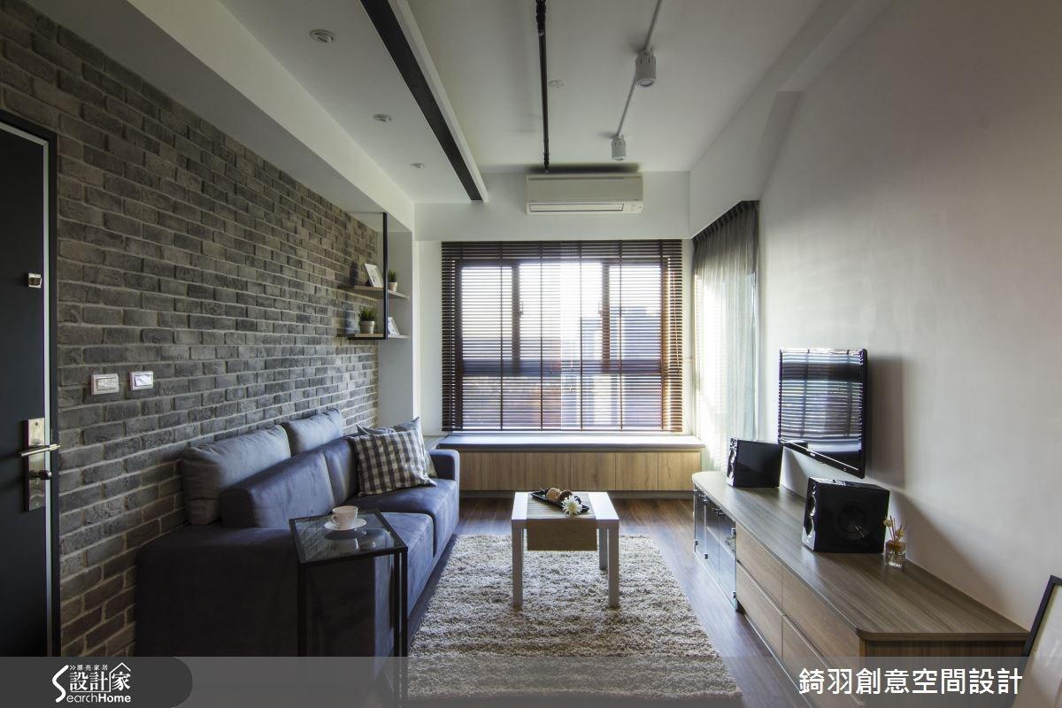 16坪新成屋(5年以下)_簡約風客廳案例圖片_錡羽創意空間設計_錡羽_05之1