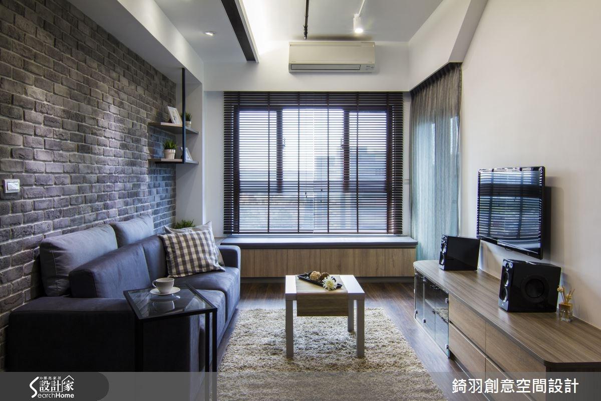 16坪新成屋(5年以下)_簡約風客廳案例圖片_錡羽創意空間設計_錡羽_05之3