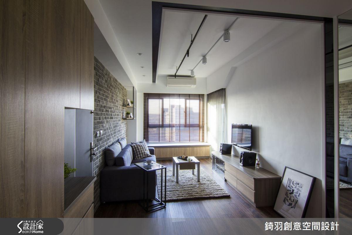16坪新成屋(5年以下)_簡約風客廳案例圖片_錡羽創意空間設計_錡羽_05之4