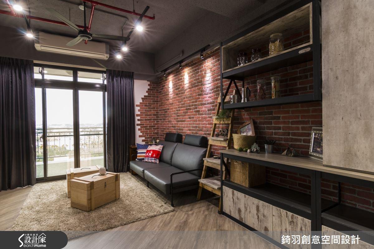 25坪新成屋(5年以下)_工業風客廳案例圖片_錡羽創意空間設計_錡羽_06之1