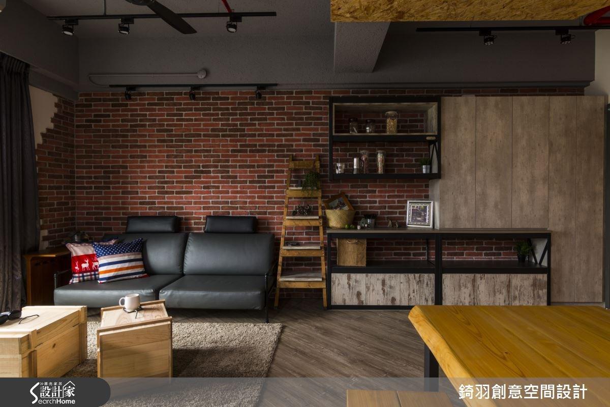 25坪新成屋(5年以下)_工業風客廳案例圖片_錡羽創意空間設計_錡羽_06之4