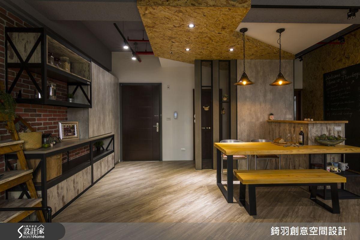 25坪新成屋(5年以下)_工業風玄關餐廳吧檯案例圖片_錡羽創意空間設計_錡羽_06之5