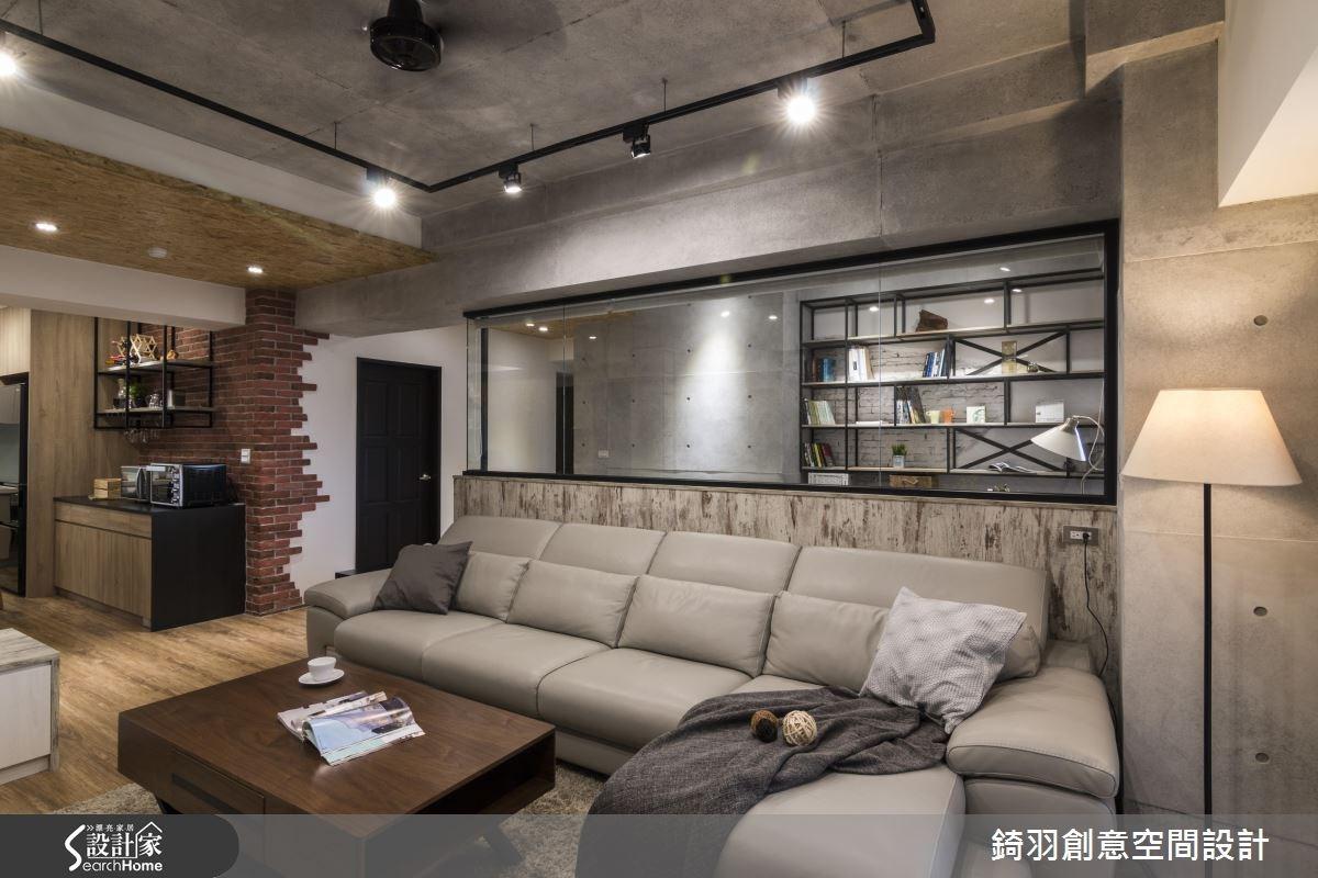 30坪新成屋(5年以下)_工業風客廳案例圖片_錡羽創意空間設計_錡羽_08之4