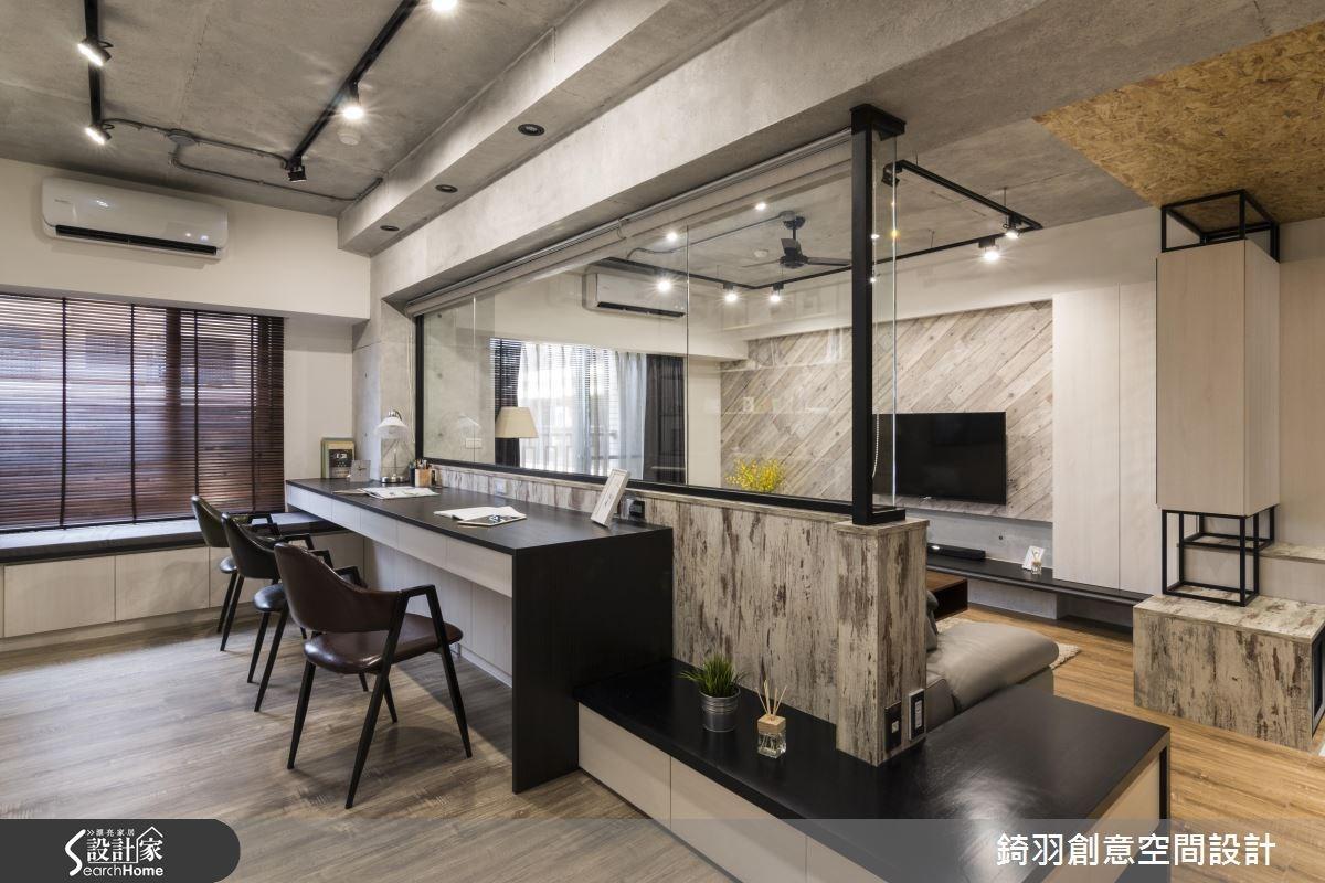 30坪新成屋(5年以下)_工業風客廳書房案例圖片_錡羽創意空間設計_錡羽_08之6