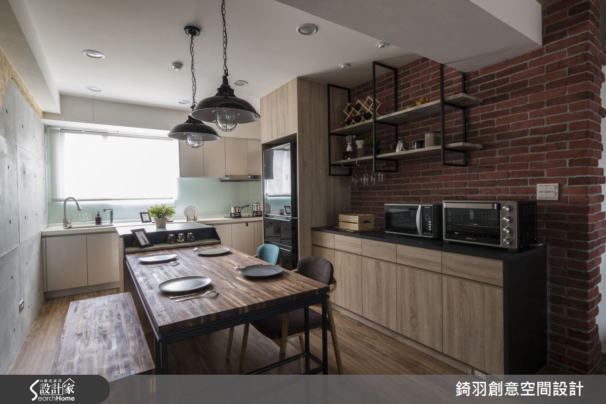 30坪新成屋(5年以下)_工業風餐廳廚房案例圖片_錡羽創意空間設計_錡羽_08之11