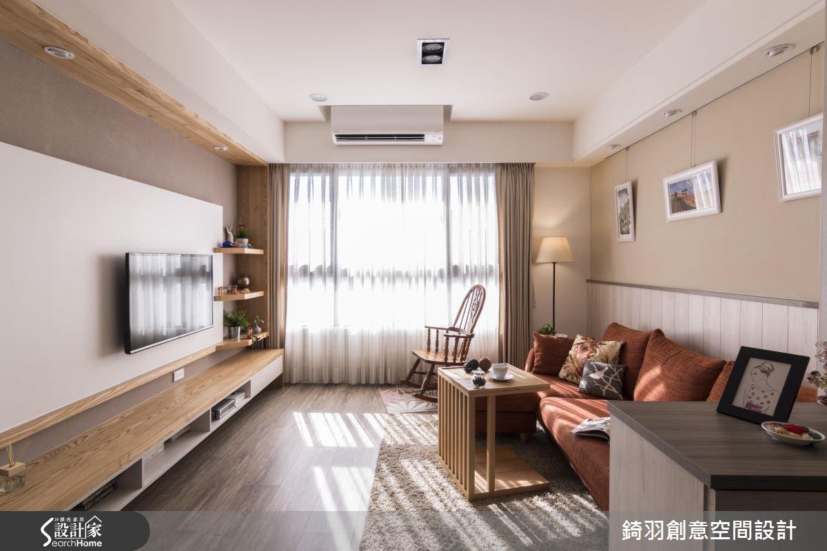 25坪新成屋(5年以下)_鄉村風客廳案例圖片_錡羽創意空間設計_錡羽_09之2
