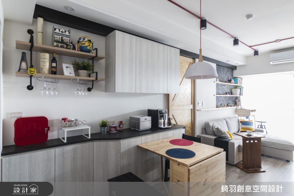 15坪新成屋(5年以下)_工業風餐廳案例圖片_錡羽創意空間設計_錡羽_13之4
