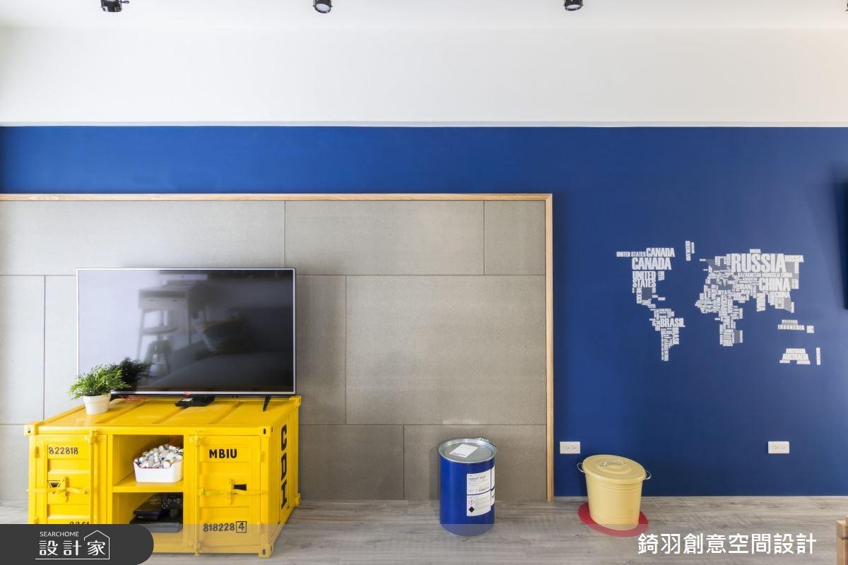 15坪新成屋(5年以下)_工業風客廳案例圖片_錡羽創意空間設計_錡羽_13之7