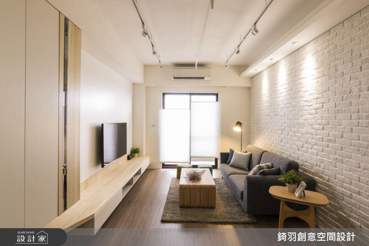 25坪新成屋(5年以下)_北歐風客廳案例圖片_錡羽創意空間設計_錡羽_15之5