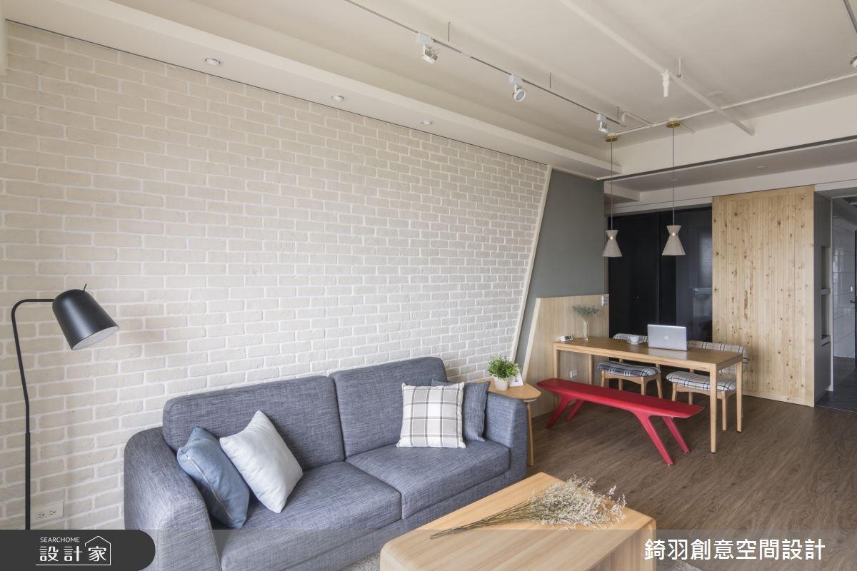 25坪新成屋(5年以下)_北歐風客廳案例圖片_錡羽創意空間設計_錡羽_15之9