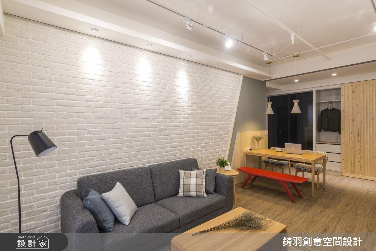 25坪新成屋(5年以下)_北歐風客廳案例圖片_錡羽創意空間設計_錡羽_15之10