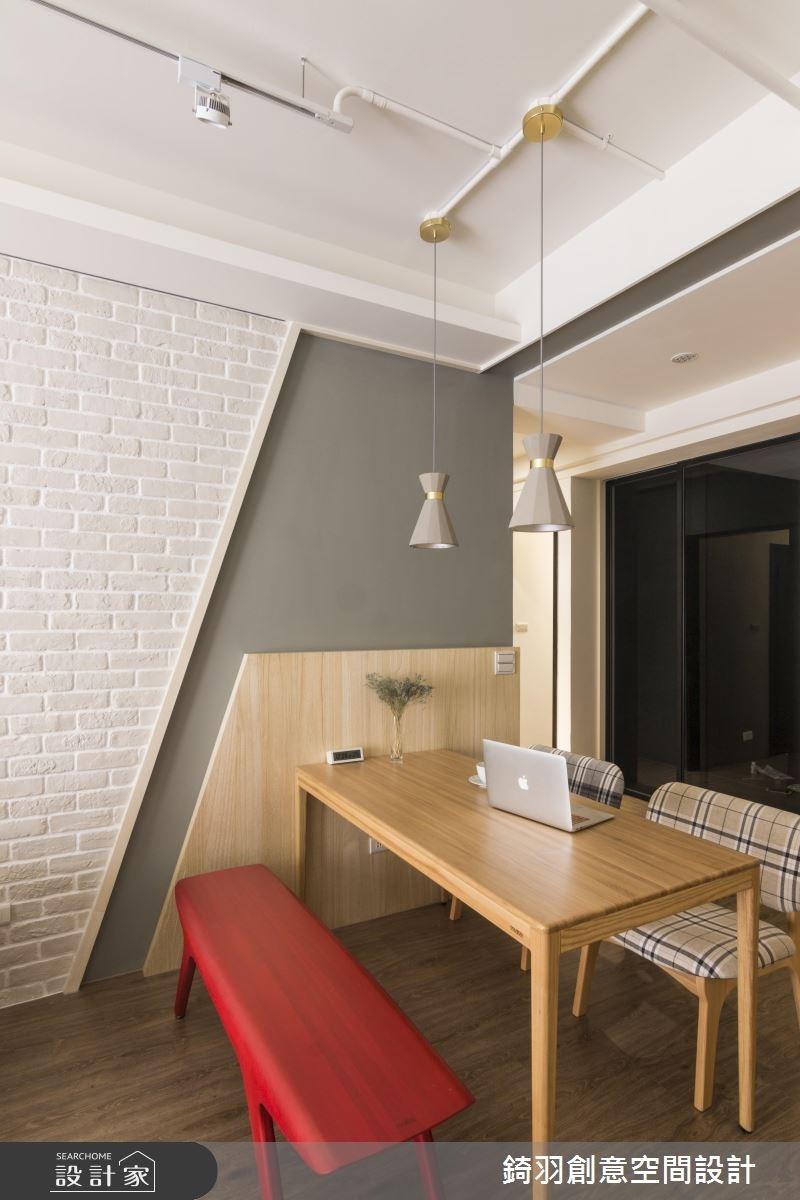 25坪新成屋(5年以下)_北歐風餐廳案例圖片_錡羽創意空間設計_錡羽_15之13