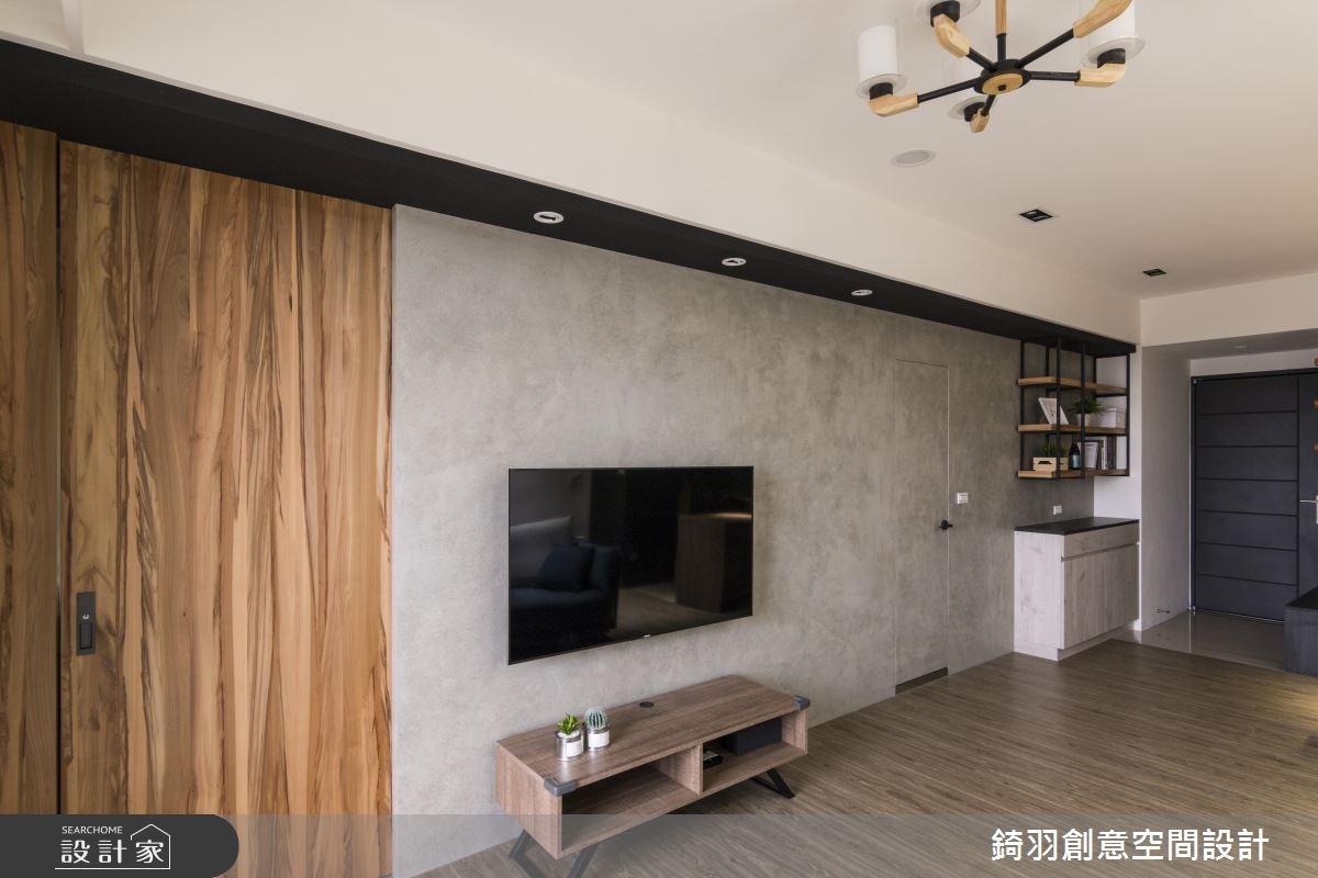 23坪新成屋(5年以下)_簡約風客廳案例圖片_錡羽創意空間設計_錡羽_16之3