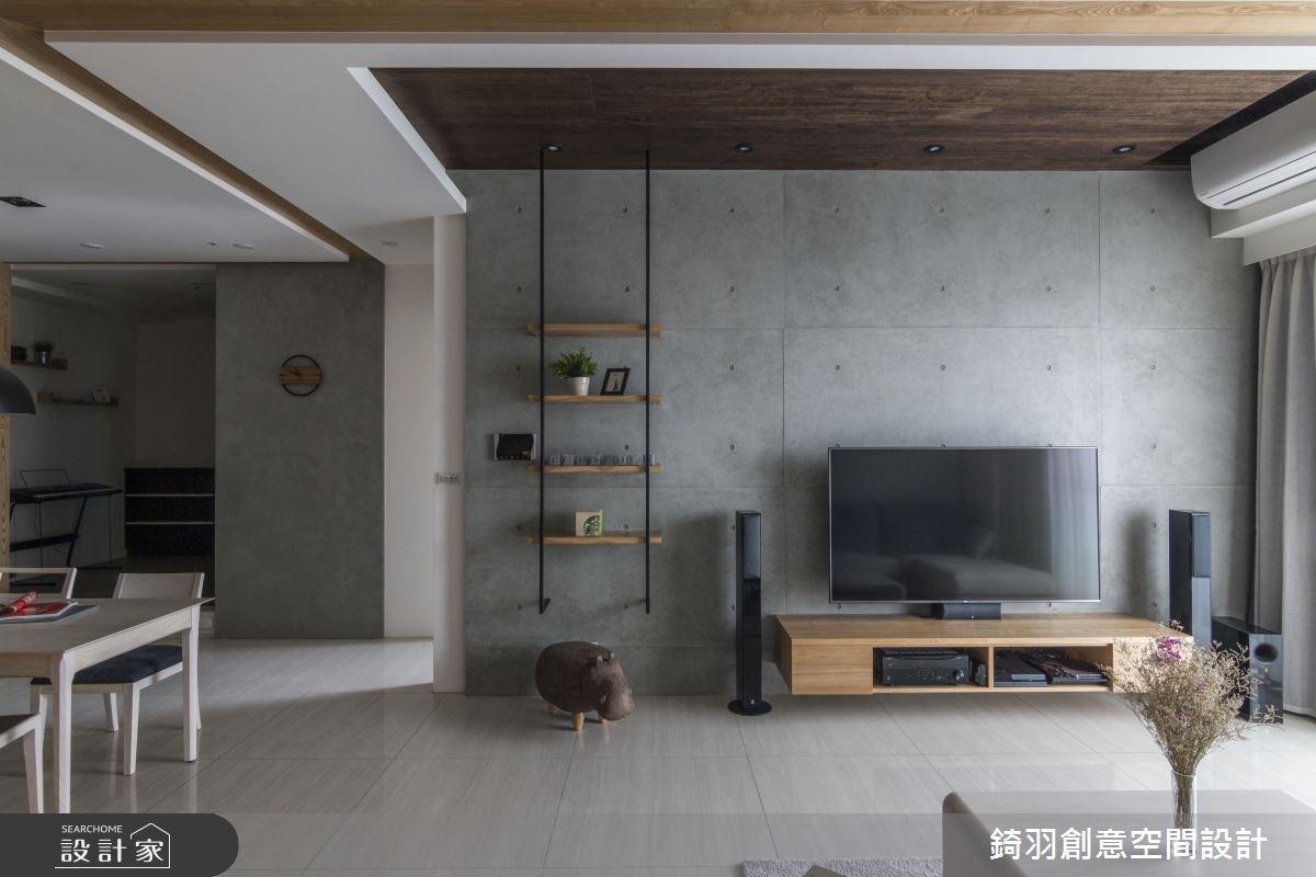 34坪新成屋(5年以下)_簡約風客廳案例圖片_錡羽創意空間設計_錡羽_18之1