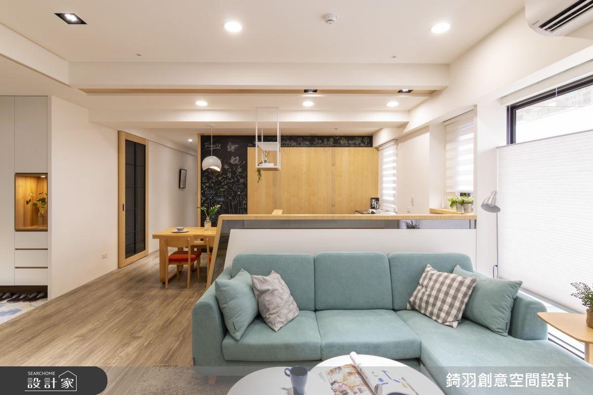 25坪新成屋(5年以下)_北歐風客廳案例圖片_錡羽創意空間設計_錡羽_19之3