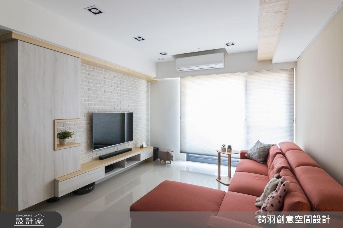 25坪新成屋(5年以下)_北歐風客廳案例圖片_錡羽創意空間設計_錡羽_20之1