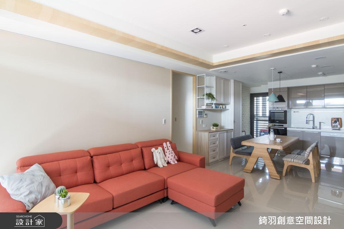 25坪新成屋(5年以下)_北歐風客廳案例圖片_錡羽創意空間設計_錡羽_20之3