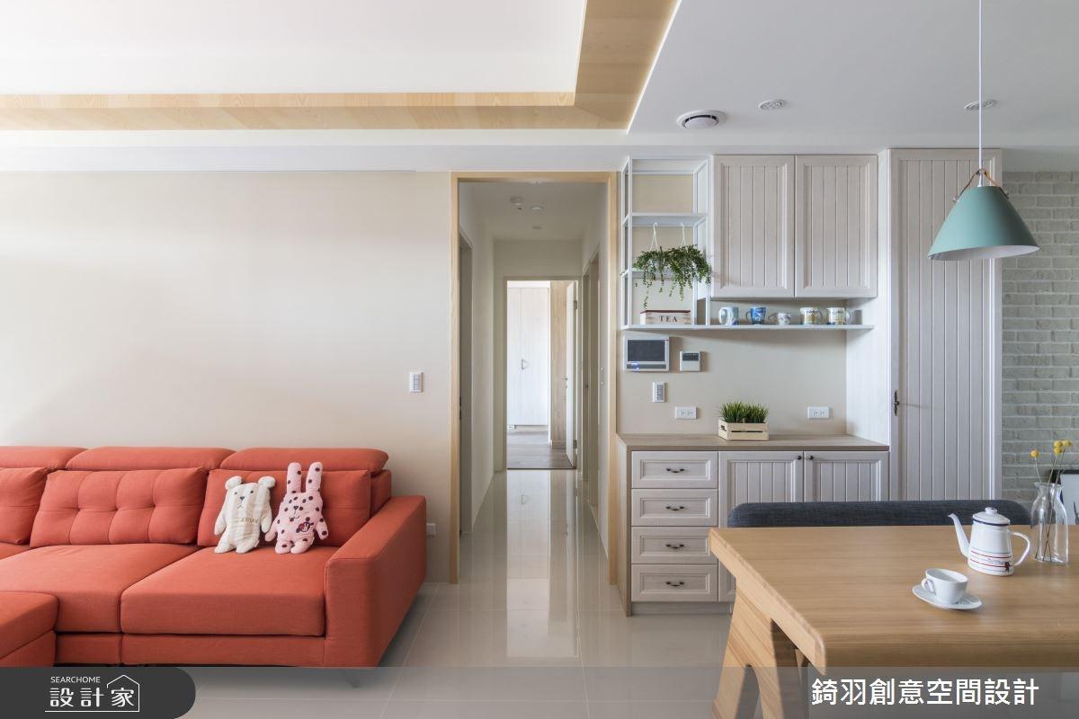 25坪新成屋(5年以下)_北歐風客廳案例圖片_錡羽創意空間設計_錡羽_20之4
