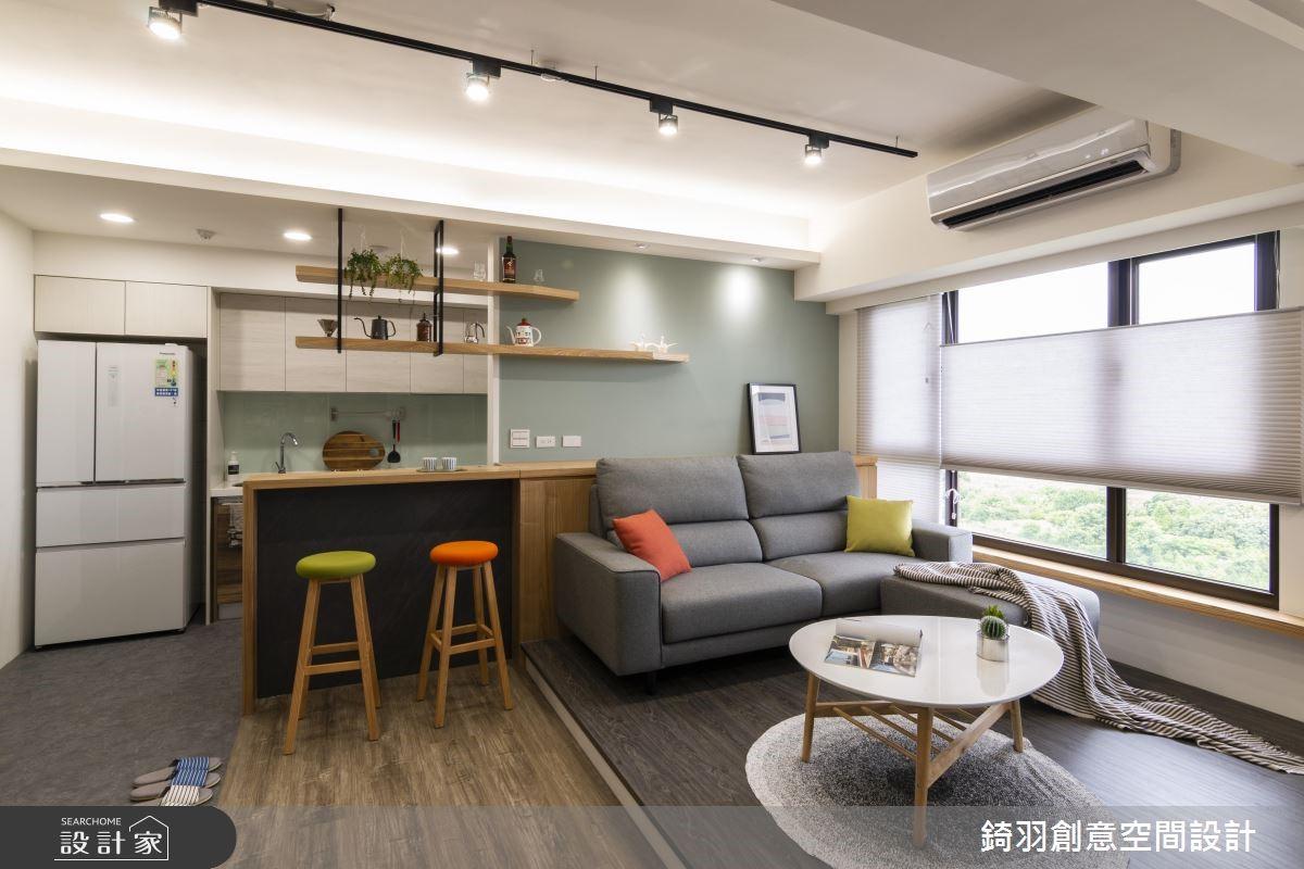 15坪新成屋(5年以下)_工業風客廳案例圖片_錡羽創意空間設計_錡羽_21之4